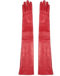Versace - Leather Gloves - Lyst