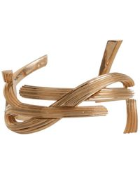Saint Laurent - Monogram Rigid Bracelet In Brass - Lyst