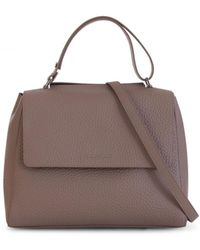 Orciani Sveva Soft Medium Shoulder Bag - Natural