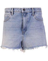 Alexander Wang Light Blue Cotton Shorts