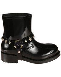RED Valentino Ankle Rainboots - Black
