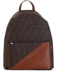 Fendi Ff backpack - Marrone