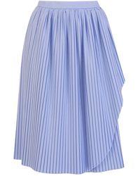Stefano Mortari High-waisted Pleated Skirt - Blue