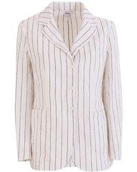 Aspesi Pinstripe Jacket - White