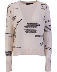 360cashmere 360 cashmere starlet sweater - Bianco