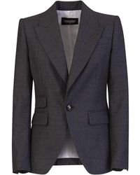 DSquared² Los Angeles Fitted Blazer - Gray
