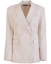 ROTATE BIRGER CHRISTENSEN Double breasted augustina blazer - Bianco