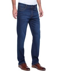 Liverpool Jeans Company Regent Relaxed Straight Stretch Denim - Blue
