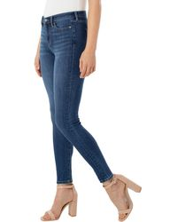 Liverpool Jeans Company Abby Ankle Skinny High Performance Denim - Blue