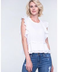 Liverpool Jeans Company - Ruffled Sleeve Shirt - Lyst