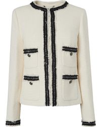 L.K.Bennett - Charlee Cream Jacket - Lyst