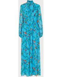 L.K.Bennett Wylie Multi Silk Jumpsuit - Blue