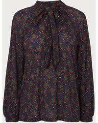 L.K.Bennett Carmel Polo Print Jersey Top - Blue