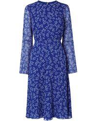 L.K.Bennett - Dr Cecily Floral-print Silk Dress - Lyst