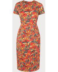 L.K.Bennett Susie Cherry Print Red Cotton Shift Dress
