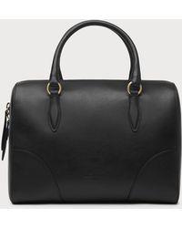 L.K.Bennett - Melanie Black Leather Shoulder Bag - Lyst