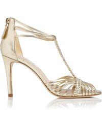 56af598f414d L.K.Bennett - Dorothy Gold Metallic Sandal - Lyst