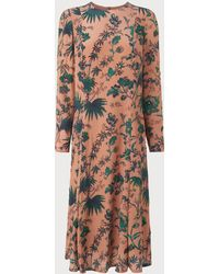 L.K.Bennett - Noah Pink Print Dress - Lyst