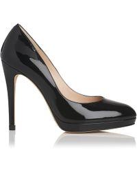 L.K.Bennett - New Sledge Black Patent Heel - Lyst