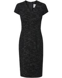 L.K.Bennett - Joyce Black Tweed Dress - Lyst