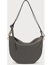 L.K.Bennett - Sophia Grey Leather Shoulder Bag - Lyst