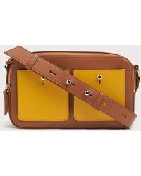 L.K.Bennett - Matilda Tan Leather Shoulder Bag - Lyst
