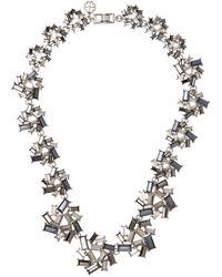 L.K.Bennett - Amara Dark Grey Crystal Necklace - Lyst