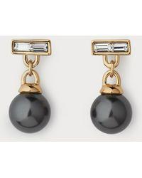 L.K.Bennett - Priscilla Grey Pearl Drop Earrings - Lyst