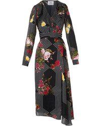 L.K.Bennett - Vali Black Floral Print Dress - Lyst