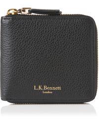 L.K.Bennett - Penelope Black Leather Purse - Lyst