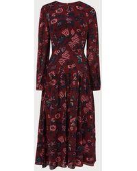 L.K.Bennett Julisa Red Silk Dress