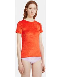Baserange - Omo T-shirt In Red - Lyst