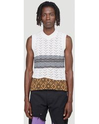 Raf Simons Contrast-knit Sleeveless Jumper - Grey