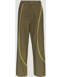 Paria Farzaneh Contrast Stripe Wide-leg Trousers - Green