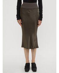 Rick Owens - Knee Length Bias Skirt In Brown - Lyst