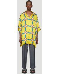 Gucci Oversized Bowling Shirt In Yellow