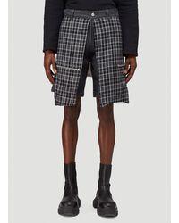 Youths in Balaclava Godstar Flannel Shorts - Black