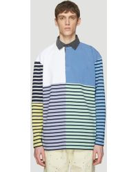 JW Anderson - Patchwork Rugby Polo Shirt In Blue - Lyst