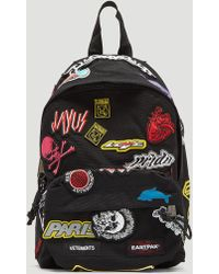 Vetements - Mini Embroidered Sticker Backpack In Black - Lyst