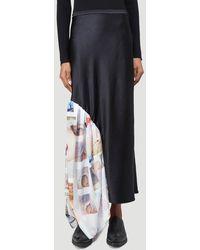 Collina Strada Draped Party Skirt - Black