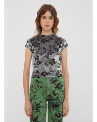 Eckhaus Latta - Shrunk Floral Jacquard Mock Neck In Grey - Lyst