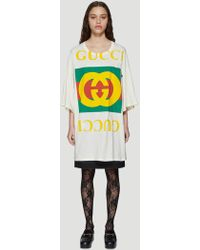 Gucci - Oversized Logo T-shirt In White - Lyst