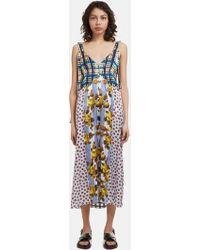 Shop Sale Online V-Neck Patchwork Cami Dress Marni Sale Excellent Cheap Sale With Credit Card Best Sale bfujtR6h
