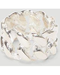 Pearls Before Swine Sliced Xl Link Ring - Metallic