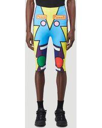 Walter Van Beirendonck Radiate Beauty Bike Shorts - Blue