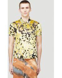 Eckhaus Latta Shrunk Polo Shirt - Yellow