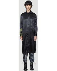 Collina Strada Wave Mechanic Trench Coat In Black