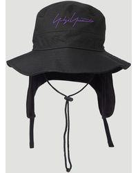Yohji Yamamoto Logo Bucket Hat - Black