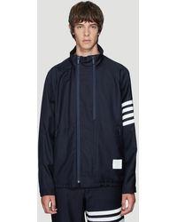 Thom Browne Double Zip Raglan Sleeve Jacket In Navy - Blue