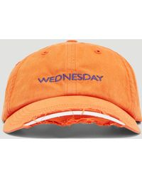 Vetements - Wednesday Embroidered Cotton Cap - Lyst